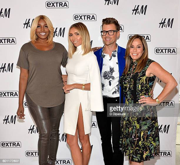 "NeNe Leakes, Giuliana Rancic, Brad Goreski, and Melissa Rivers visit ""Extra"" at their New York studios at H&M in Times Square on September 9, 2016 in..."