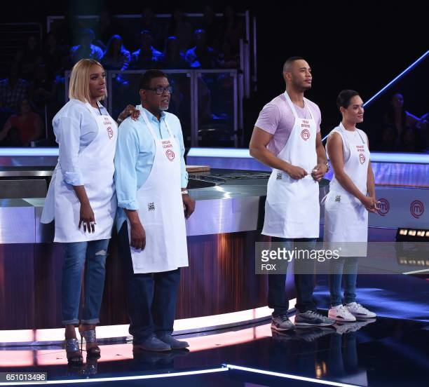 Nene Leakes, Gregg Leakes, Trai Byers and Grace Byers in the all-new MASTERCHEF CELEBRITY SHOWDOWN, airing Monday, Jan. 2 on FOX.