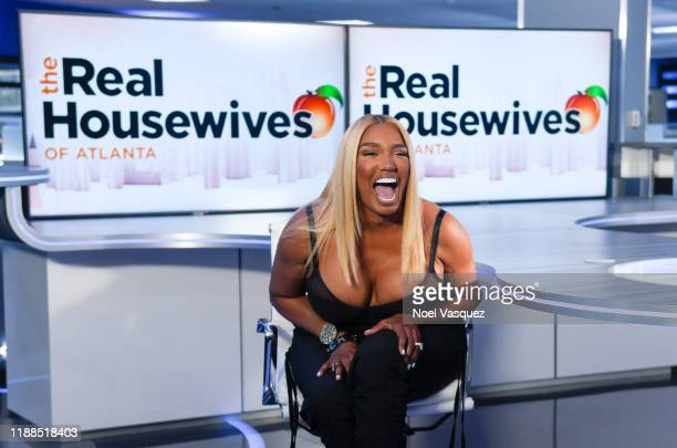 "NeNe Leakes visits ""Extra"" at Burbank Studios on November 18, 2019 in Burbank, California."