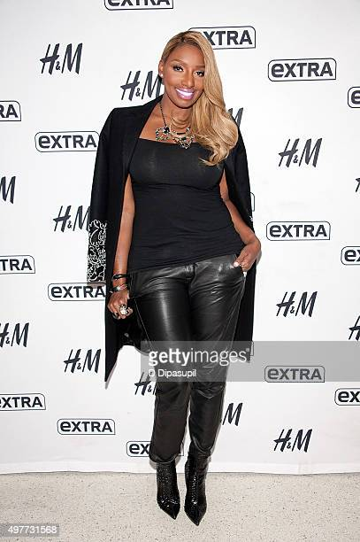 NeNe Leakes visits 'Extra' at their New York studios at HM in Times Square on November 18 2015 in New York City
