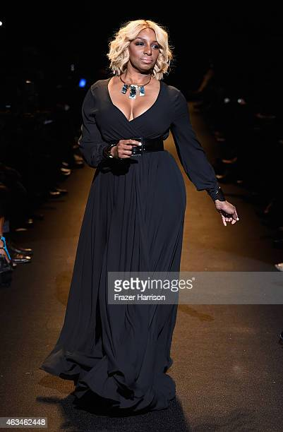 NeNe Leakes walks the runway at Naomi Campbell's Fashion For Relief Charity Fashion Show during Mercedes-Benz Fashion Week Fall 2015 at The Theatre...