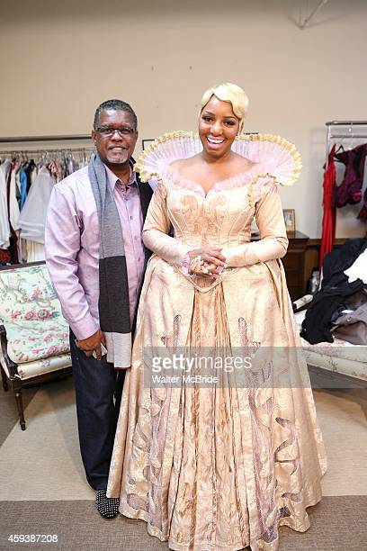 NeNe Leakes with her husband Gregg Leakes filming an episode of 'The Real Housewives of Atlanta' as she meets with designer William Ivey Long for her...