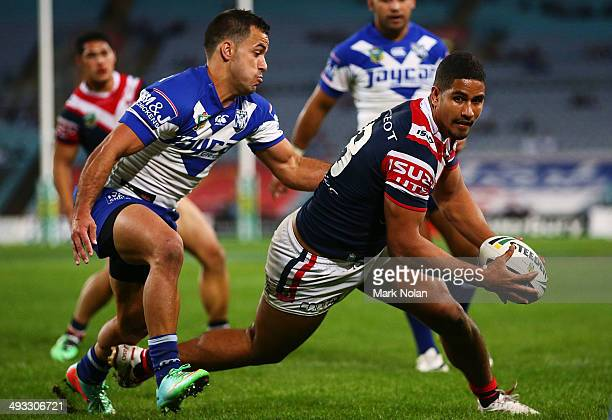 Nene McDonald of the Roosters in action during the round 11 NRL match between the CanterburyBankstown Bulldogs and the Sydney Roosters at ANZ Stadium...