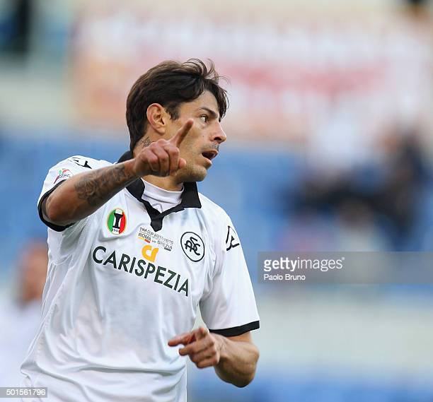 Nene' of AC Spezia gestures during the TIM Cup match between AS Roma and AC Spezia at Stadio Olimpico on December 16 2015 in Rome Italy
