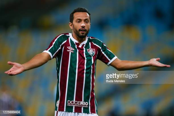 Nene of Fluminense gestures during the match between Flamengo and Fluminense as part of the Taca Rio the Second Leg of the Carioca State Championship...