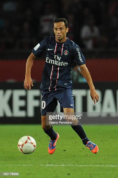 Nene of Paris SaintGermain FC in action during the Ligue 1 match between Paris SaintGermain FC and FC Lorient at Parc des Princes on August 11 2012...