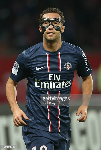 Nene of PSG in action during the french Ligue 1 match between Paris Saint Germain FC and Stade Rennais FC at the Parc des Princes stadium on November...