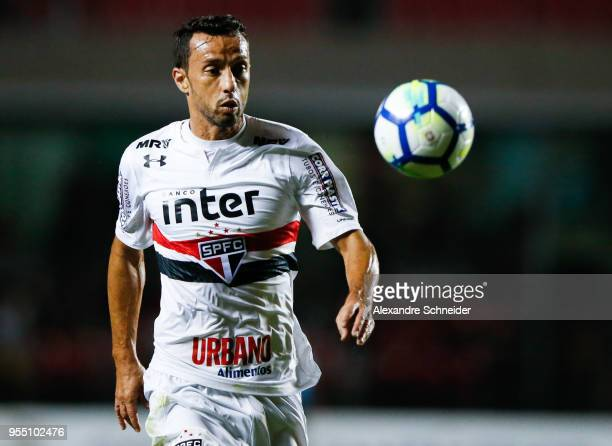 Nene of Sao Paulo in action during the match against Atletico MG for the Brasileirao Series A 2018 at Morumbi Stadium on May 05 2018 in Sao Paulo...
