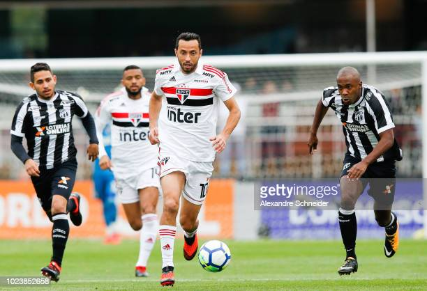 Nene of Sao Paulo in action during the match against Ceara for the Brasileirao Series A 2018 at Morumbi Stadium on August 26 2018 in Sao Paulo Brazil