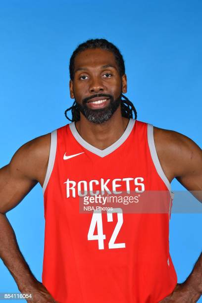 Nene of the Houston Rockets poses for a head shot during Media Day on September 25 2017 at the Toyota Center in Houston Texas NOTE TO USER User...