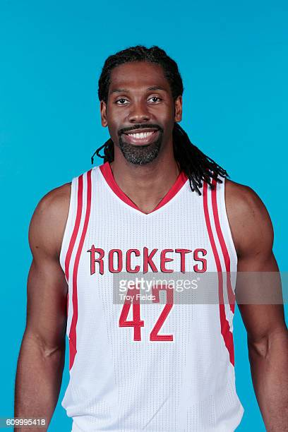 Nene of the Houston Rockets poses for a headshot during the 20162017 Houston Rockets Media Day on September 23 2016 at the Toyota Center in Houston...