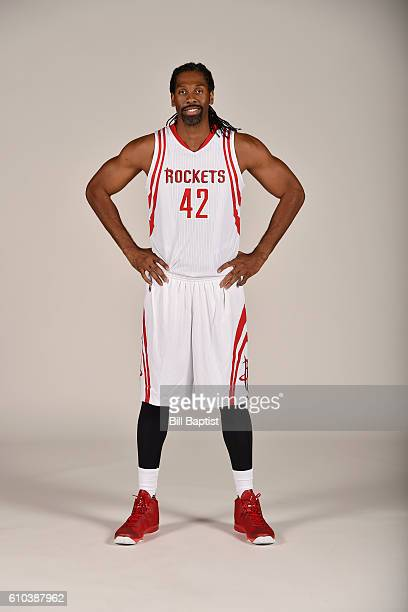 Nene of the Houston Rockets poses for a portrait during the 2016 NBA Media Day at the Toyota Center on September 24 2016 in Houston Texas NOTE TO...