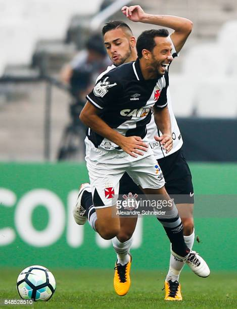 Nene of Vasco da Gama and Maycon of Corinthians in action during the match between Corinthians and Vasco da Gama for the Brasileirao Series A 2017 at...