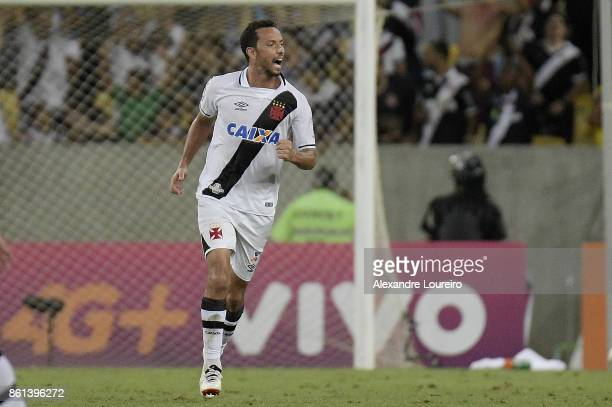 Nene of Vasco da Gama celebrates a scored goal during the match between Vasco da Gama and Botafogo as part of Brasileirao Series A 2017 at Maracana...
