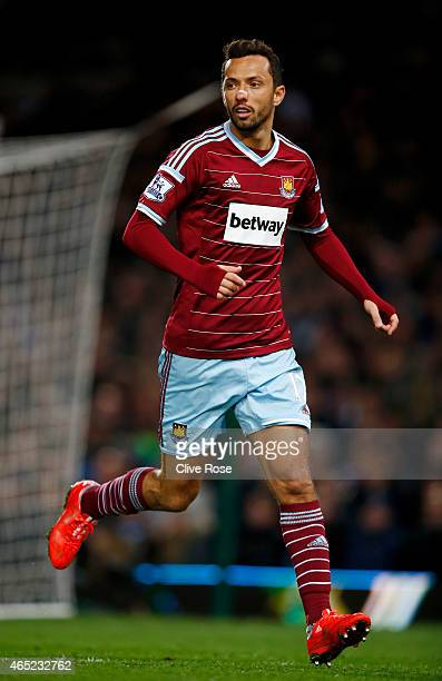 Nene of West Ham in action during the Barclays Premier League match between West Ham and Chelsea at the Boleyn Ground on March 4 2015 in London...