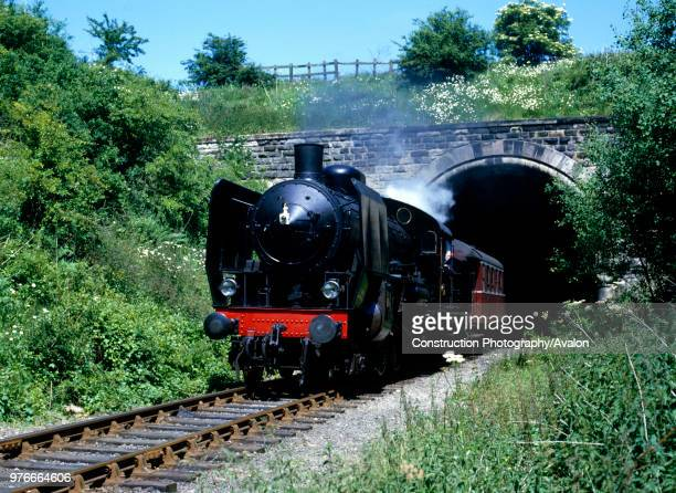 Nene Valley Railway 101 bursts out of Sibson Tunnel with the 1420 ex Peterborough for Yarwell Mill 210686