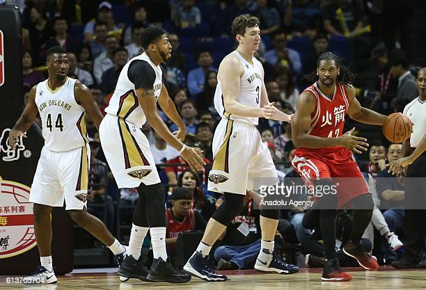 Nene#42 of Houston Rockets in action during the 201617 NBA Global Game at the MercedesBenz Arena in Shanghai China on October 09 2016