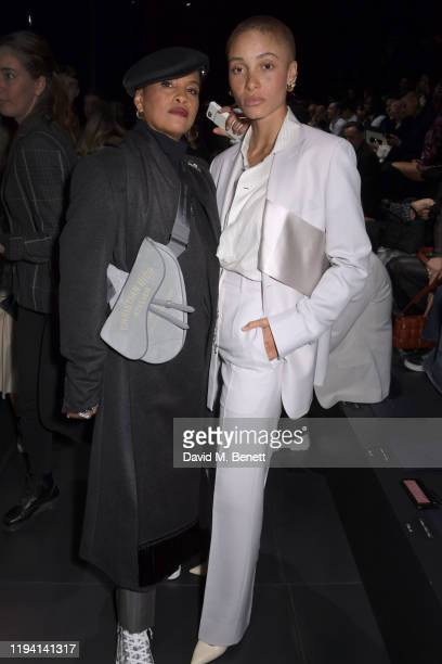 Neneh Cherry and Adwoa Aboah attend the Dior Homme Menswear Fall/Winter 20202021 show as part of Paris Fashion Week on January 17 2020 in Paris France
