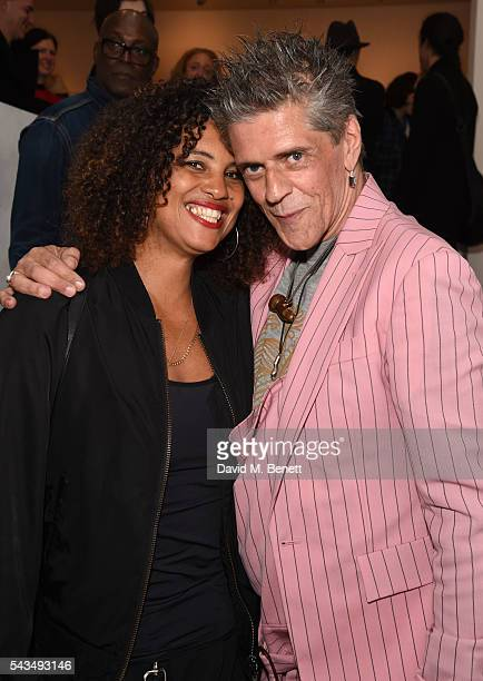 Neneh Cherry and Judy Blame attend a VIP private view of Judy Blame Never Again and Artistic Difference at the ICA on June 28 2016 in London England