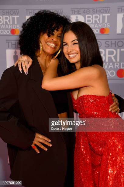 Neneh Cherry and Mabel attend The BRIT Awards 2020 at The O2 Arena on February 18 2020 in London England