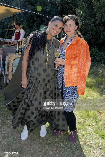 Neneh Cherry and Tyson McVey at Krug Encounters – Rhythm and Ride on September 18 2019 in Sittingbourne England