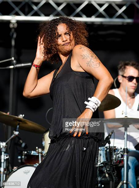 Neneh Cherry performs at the Wickerman festival at Dundrennan on July 25, 2015 in Dumfries, Scotland.