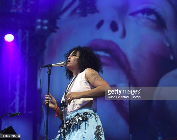 Neneh Cherry performs at Way Out West festival on August 8 2019 in Gothenburg Sweden