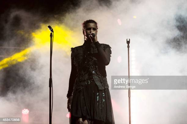 Neneh Cherry performs on stage at Beacons Festival at Funkirk Estate on August 10, 2014 in Skipton, United Kingdom.