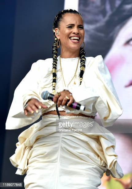 Neneh Cherry performs on The Park Stage during day four of Glastonbury Festival at Worthy Farm Pilton on June 29 2019 in Glastonbury England