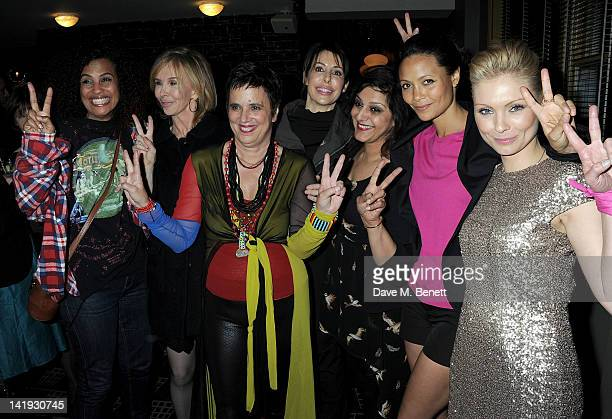 Neneh Cherry Trudie Styler Eve Ensler Lauren Prakke Meera Syal Thandie Newton and MyAnna Buring attend an after party for 'A Memory A Monologue A...