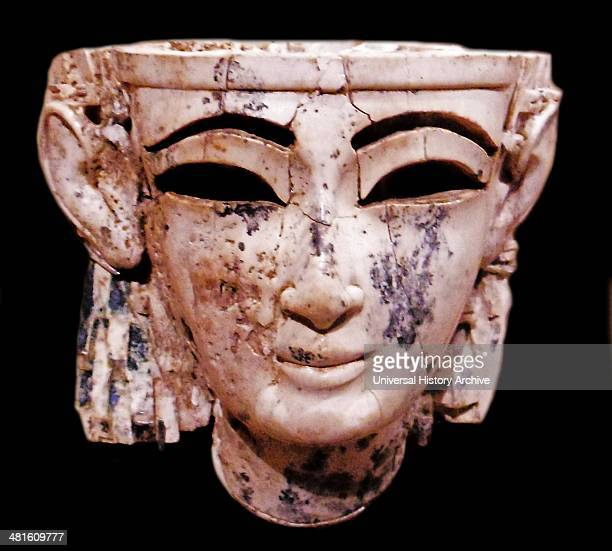 Neo Assyrian Ivory Head of a Man 9th Century BC Some Egyptian blue pigment remains on the head Metropolitan Museum of Art