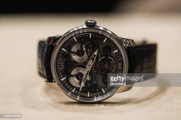 Neo Bridges luxury wristwatch, manufactured by Girard-Perregaux SA, at a Chronopassion SAS luxury watch store in Paris, France, on Thursday, May 20,...