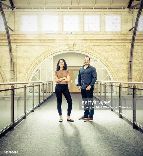 Neo founder Ali Partovi and partner Nadia Singer are photographed for Forbes Magazine on October 17 2018 in San Francisco California CREDIT MUST READ...