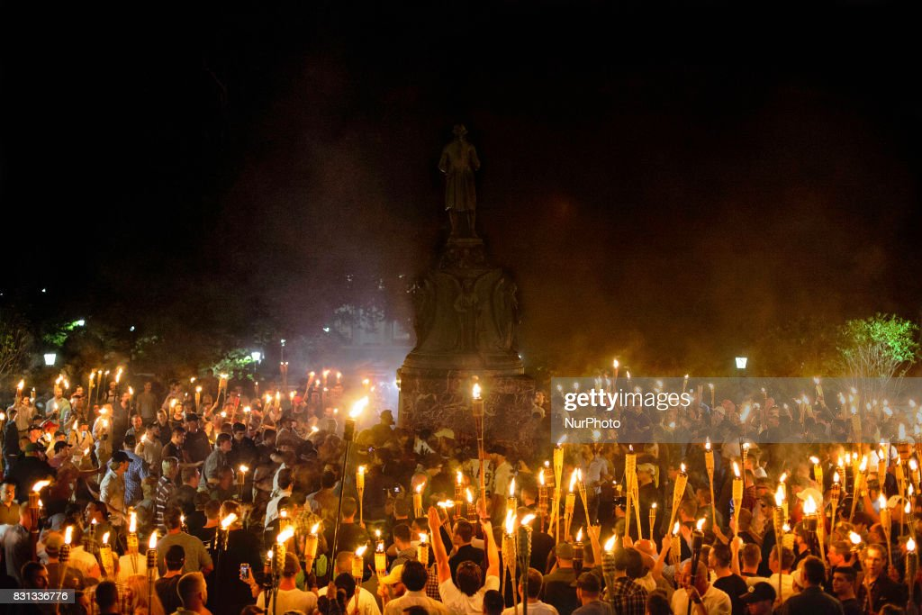 Alt Right, Neo Nazis hold torch rally at UVA : News Photo