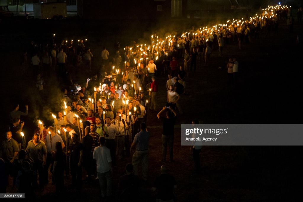 White Supremacists March with Torches in Charlottesville : News Photo