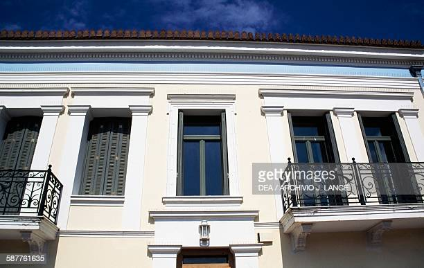 Neoclassical building in the Plaka neighbourhood Athens Greece