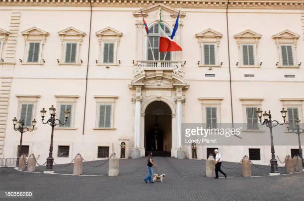 Neoclassical facade of Palazzo del Quirinale, Trevi and Quirinale area.
