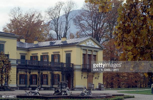 Neoclassical Rear facade Neoclassical style detail Kaiservilla summer residence of Emperor Franz Joseph I and Empress Elisabeth of Austria known as...