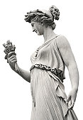 Neo-Classical sculpture of a women, Rome Italy