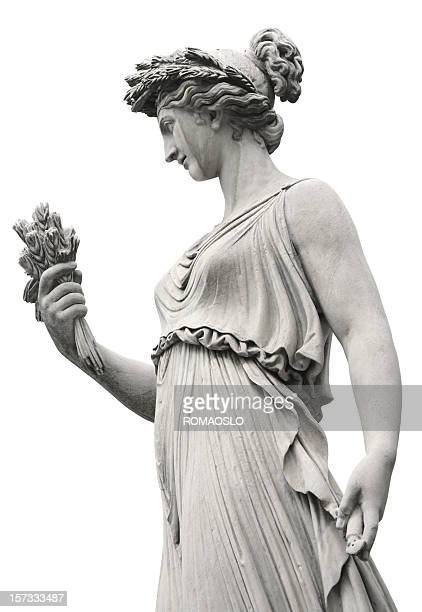 neo-classical sculpture of a women, rome italy - sculpture stock pictures, royalty-free photos & images