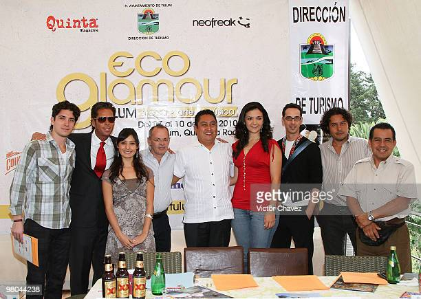Neofreak public relations director, Axel Gutierrez Hermoso, actor and Tulum businessman, Roberto Palazuelos, Grupo Quinta commercial director, Lic....