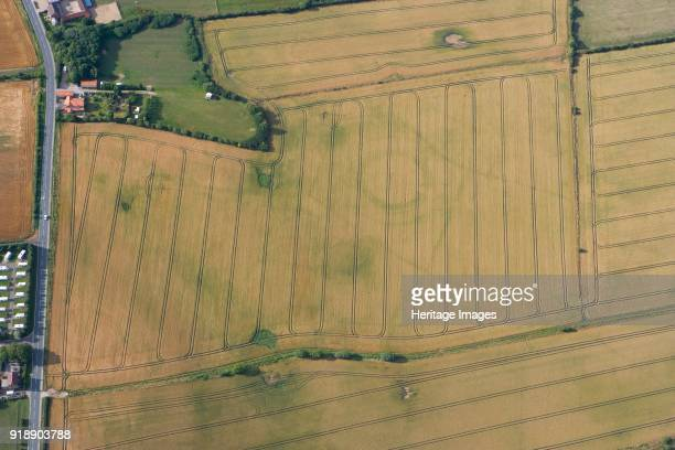 Neolithic henge reused as a Bronze Age ringwork in Hornsea East Yorkshire c2010 Historic England's aerial reconnaissance team spotted the buried...