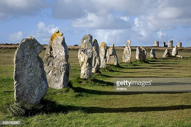 Neolithic menhirs / standing stones at Carnac Brittany France
