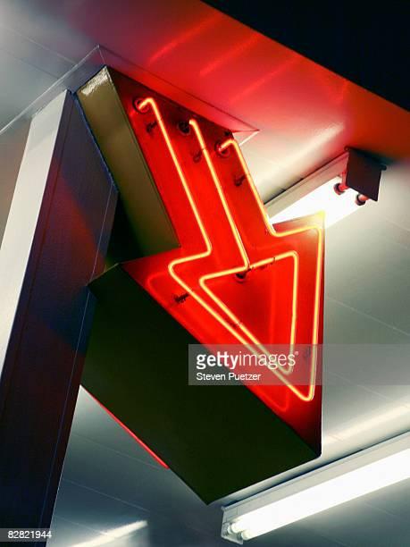 Neon arrow sign, Las Vegas, Nevada, USA