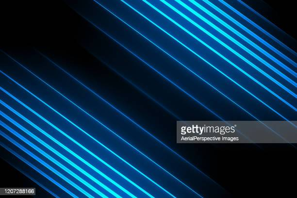 neon blue lightning background - light beam stock pictures, royalty-free photos & images