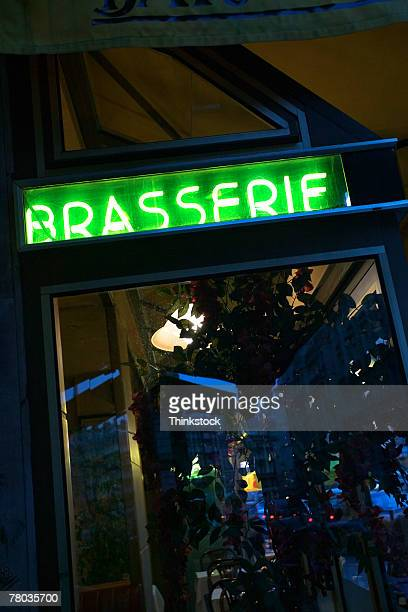 Neon brasserie sign, Paris