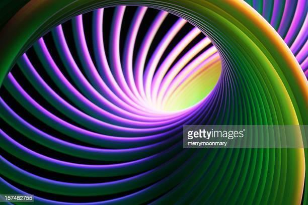 Neon Bright Spiral
