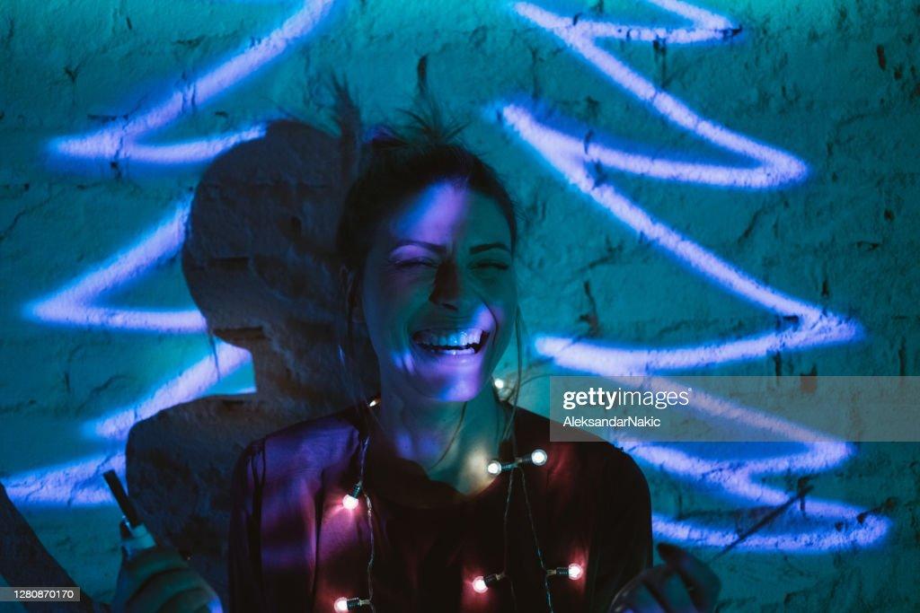 Neon Christmas : Stock Photo