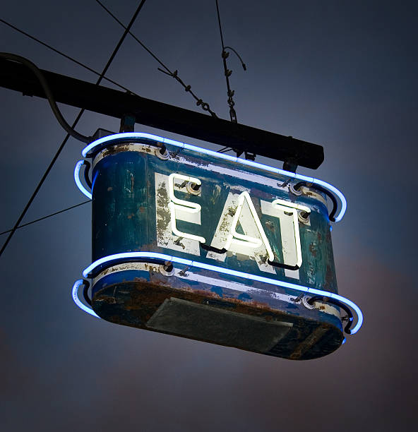 Neon EAT Sign