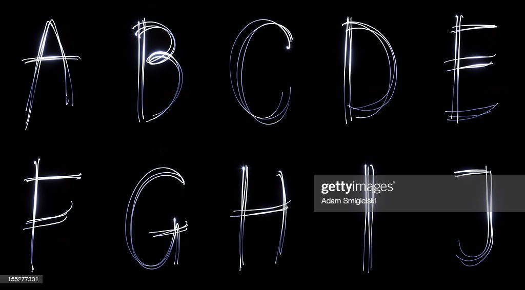 neon fonte (Parte 1 : Foto de stock